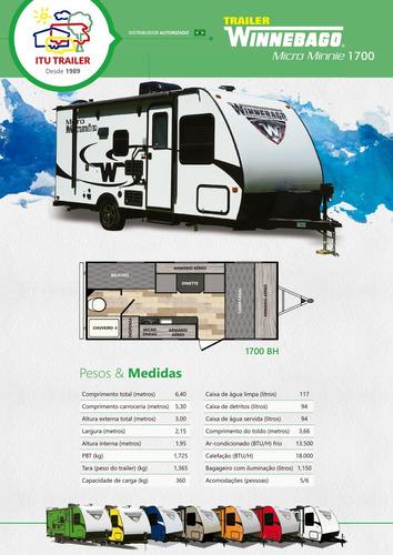 trailer winnebago 1700bh - semi-novo - motorhome - y@w3