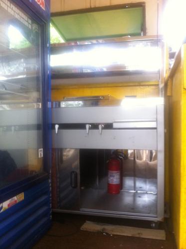 trailer y carro de comidas rápidas, tren de cocina y nevera