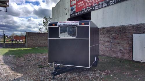 trailers gastronomico 4,00 mts. rodantes brandsen