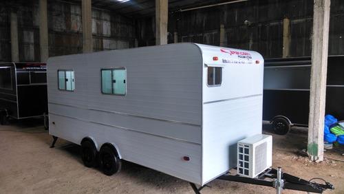 trailers gastronomico- oficina móvil 5,00 mts dob-eje balanc