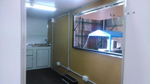 trailers gastronomico u oficina 4,00 mts. rodantes brandsen