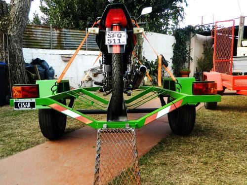trailers para motos cuatriciclos y trailer cerrado nuevos