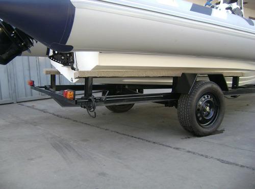 trailers para  semirrigidos de hasta 5,2 mts calidad premium