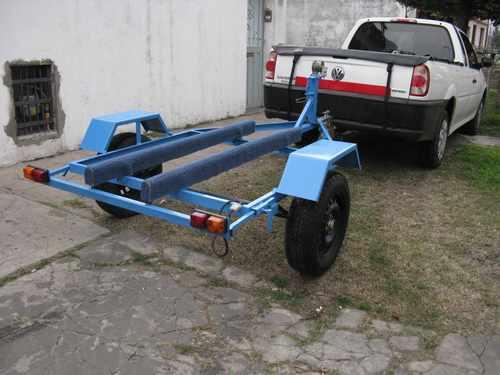 trailers reglamentario de hierro u para jet y motos de agua