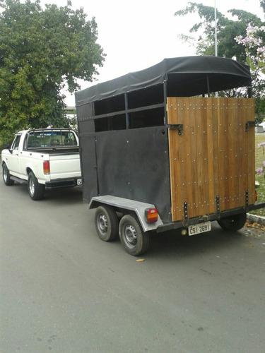 trailher reboque para dois cavalo restaurado