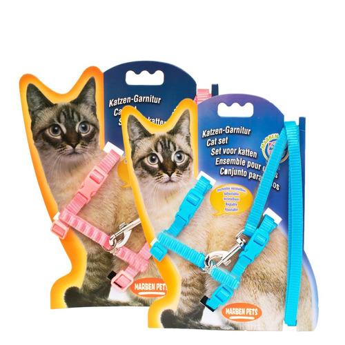 trailla + arnes 10mm para gatos grandes pethome