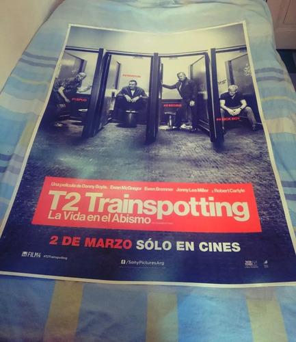 trainspotting 2 - cartel banner publicitario plástico