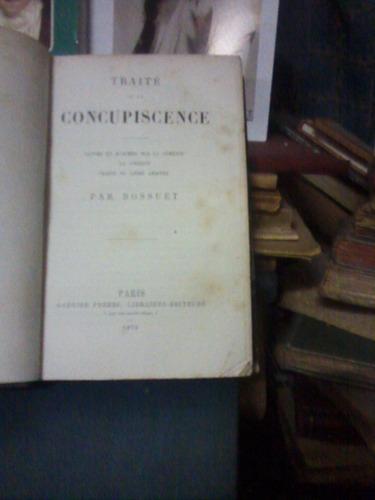 traite de la concupiscence par boussuet paris 1879