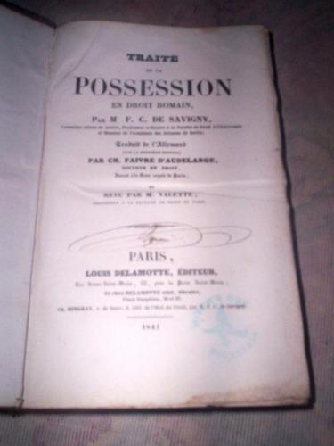 traite de la possession em droit romain 1841