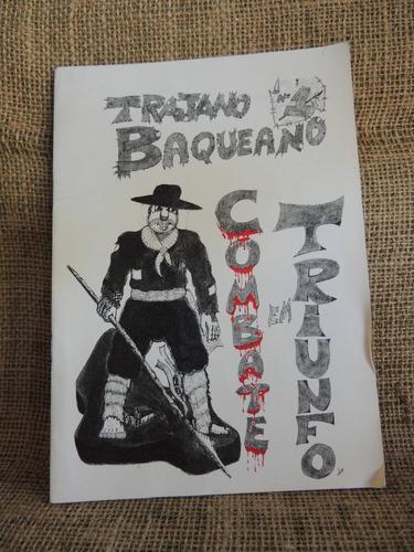 trajano baqueano combate em triunfo história em quadrinhos