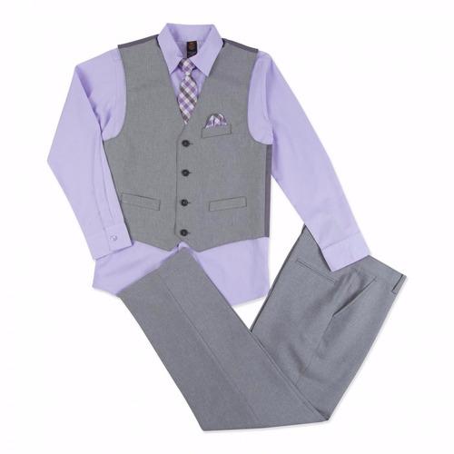 traje americano para bebe 3/6 meses 4 piezas jkb