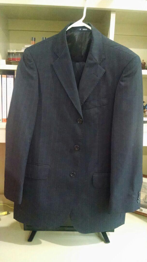 6b09b55fb71a7 Traje Arezzo 100%lana Super 120 36r Rayas -   990.00 en Mercado Libre