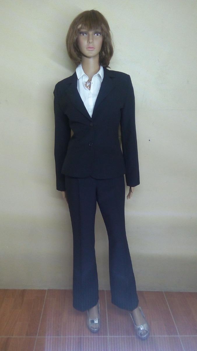 Traje formal mujer azul marino