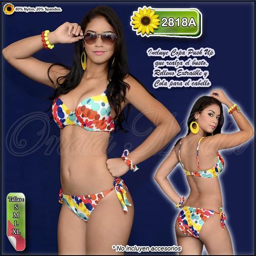 traje baño damas ultima moda 2017 bikinis push up relleno