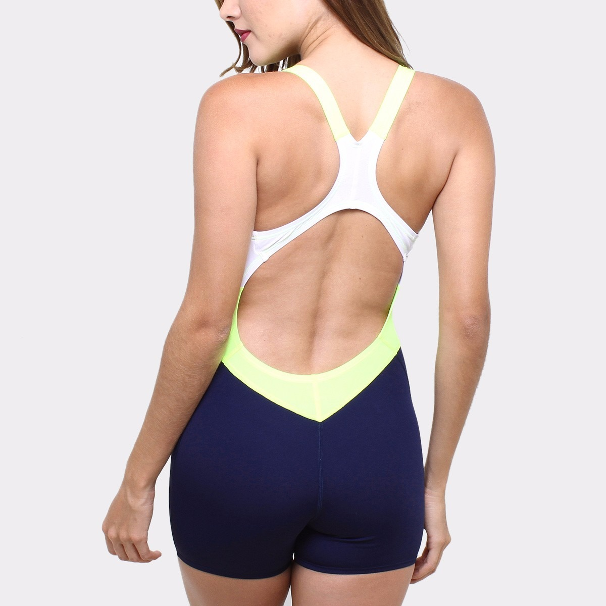 0bbedb133450 Traje De Baño Nike Short Bloque Natacion Color Marino/lima