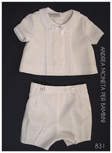 traje bautismo bebe blanco lino andrea moneta artesanal 831