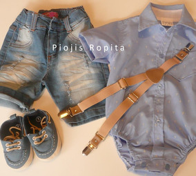 240581630 Camisa Body Con Jeans Y Tiradores Bebe - Ropa y Accesorios en ...