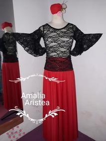 d2a1423860 Pollera Roja Para Danza Española - Ropa y Accesorios en Mercado ...