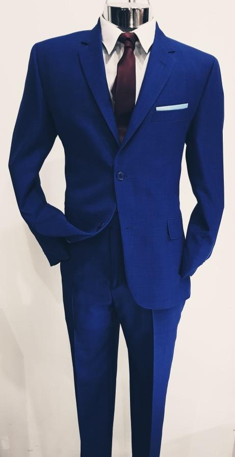 a6bcbd13d461 Traje Caballero Azul Indigo 2 Piezas Corte Slim Fit Juvenil