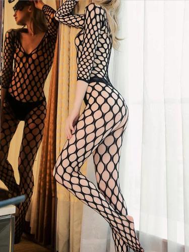traje calado sexy lencería herotica medias ropa interior