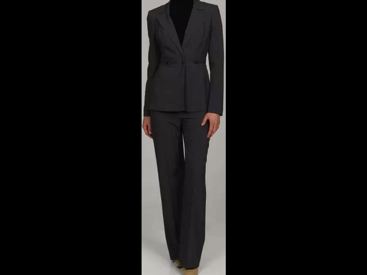 85b4f8737 Traje Calvin Klein Dama Ejecutivo Gris Sastre. - $ 1,300.00 en ...