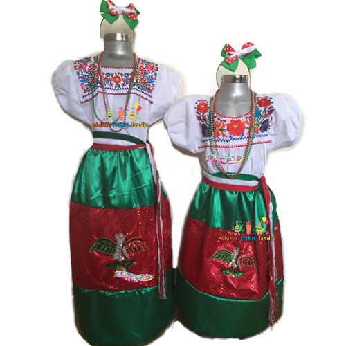traje china poblana fiestas patrias 16 sep mex envio gratis