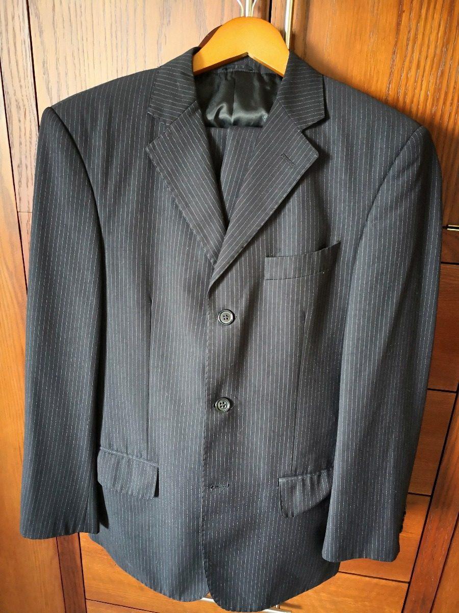20a0a0cf58904 traje completo azul marino con raya de gis. lana super 120. Cargando zoom.