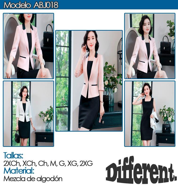 c8d59247fc Traje Completo Dama Blazer + Vestido Moda Formal Sofisticado - U S ...
