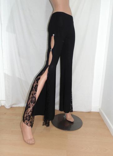 traje conjunto danza arabe pantalón negro falda y peto rojos