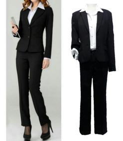 Traje Conjunto Entallado Blazer Y Pantalón Oficina O Fiesta De Vestir Mujer T 42 Al 64 Hay Talles Grandes Especiales