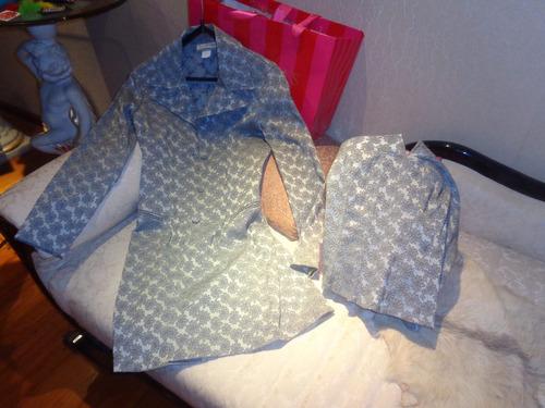 traje conjunto (saco tapado) y corset brocato elastizado !
