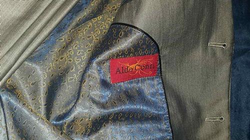 traje corte italiano gris metalico