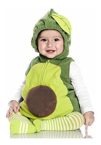traje de aguacate de los ninos del bebe de carter 3-6 meses