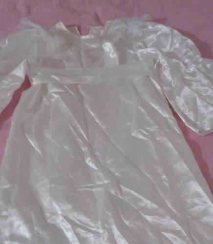 traje de angelito talla 8 de saten