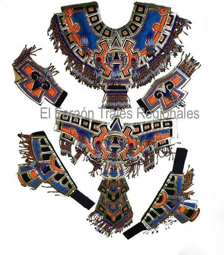 traje de azteca conchero con penacho