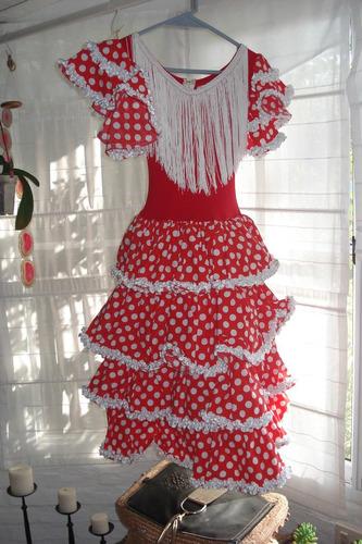 traje de baile español +zapatos menkes p/ 10 años impecable
