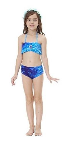traje de baño 3 piezas bañador para niña bikini de cola d