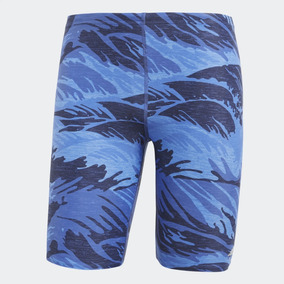 1183ff7ac2 Traje De Baño adidas Para Hombre Estampado Azul Cw4857