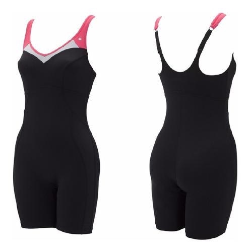 traje de baño - aqua sphere -chance black/dark pink talle 32