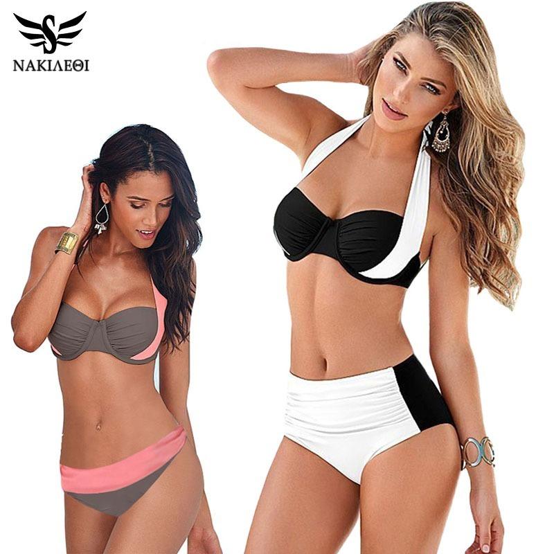 Bikini Regalogratis Cintura Baño 2 Traje De Mujer Alta Pieza 5AjL3R4