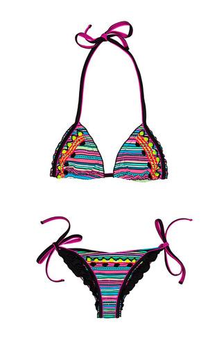 traje de baño bikini bordado a mano
