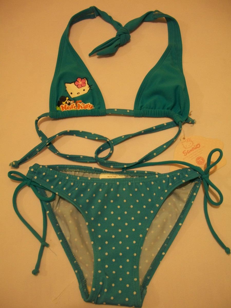 Traje De Baño Bikini Para Niña Hello Kitty 6 Años - $ 250 ...