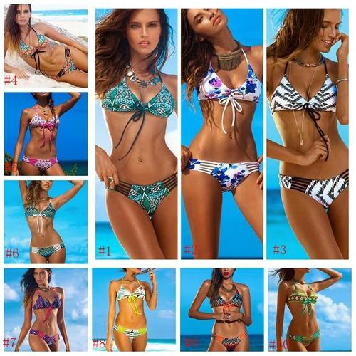 traje de baño bikini trival estampado mayoreo enviogratis