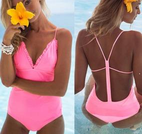 4d431e363609 Traje De Baño Completo Dama Bikini Monokini Rosa Olanes Envi