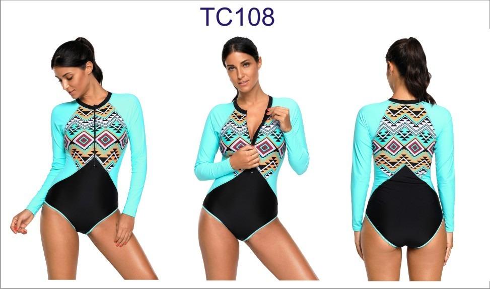 9b58ccad43f02 Traje De Baño Completo Manga Larga Surf Azteca Tc108 -   655.01 en ...