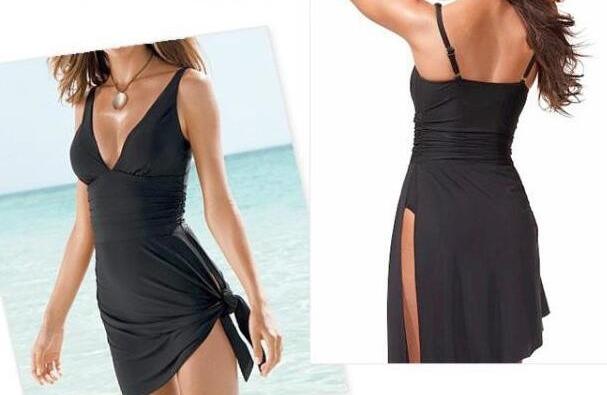 Traje de ba o completo para mujer color negro estilo for Traje banos completos