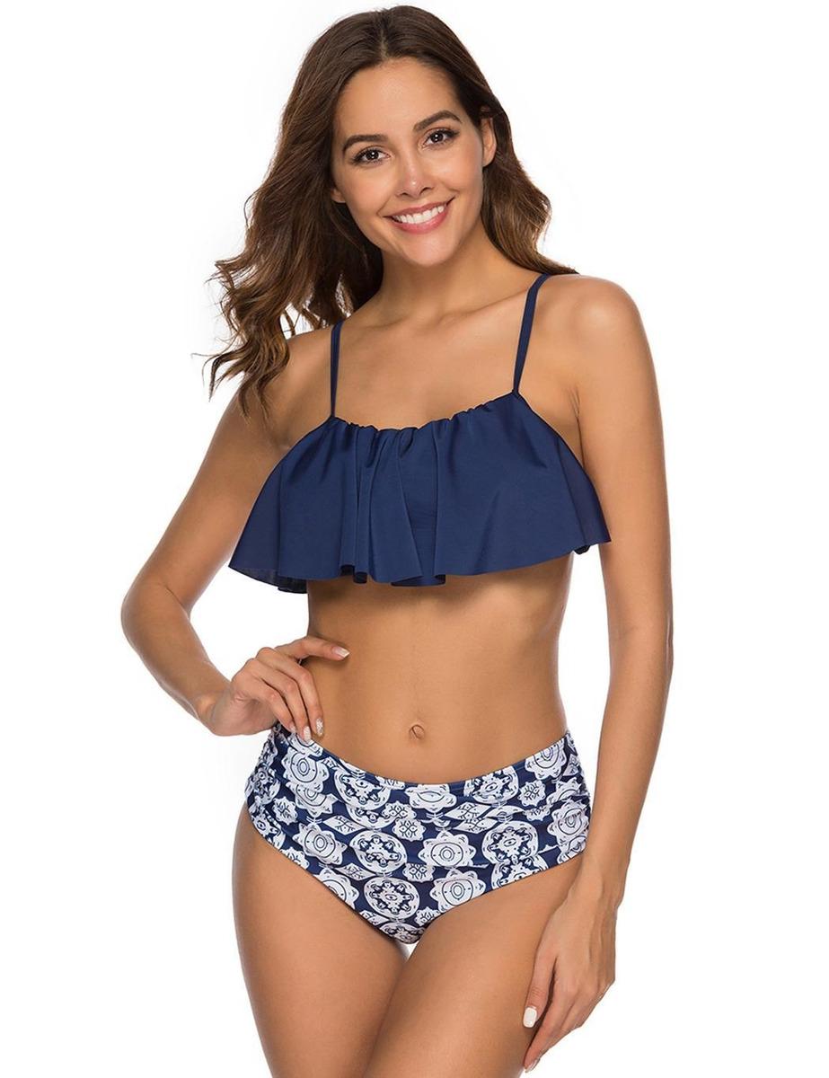 1382f4bf3ef3 Traje De Baño Conjunto De Bikini Volantes Playa Y Piscina
