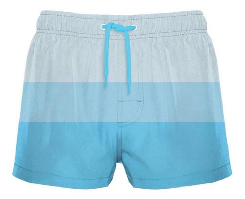 traje de baño corto degradé océano crouch