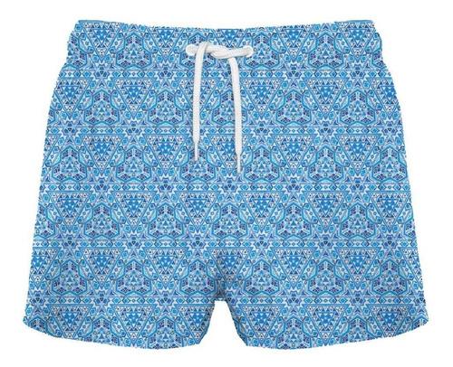traje de baño corto mosaicos crouch