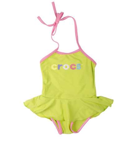 traje de baño crocs green para niñas